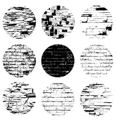 Circular brick textures vector