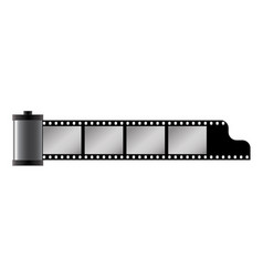 Classical 35 mm photo film tape cartridge vector