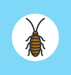 cockroach icon sign symbol vector image