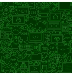 Coding Green Line Seamless Pattern vector