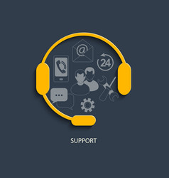 Concept for customer support service vector