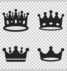 crown diadem icon in flat style royalty crown on vector image