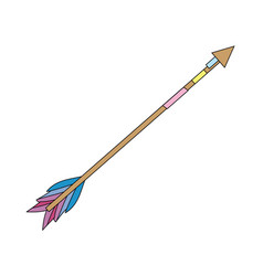 Cute arrow element with ornamental design vector