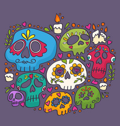 day dead print holy death vector image