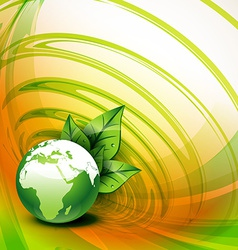Earth leaf background vector