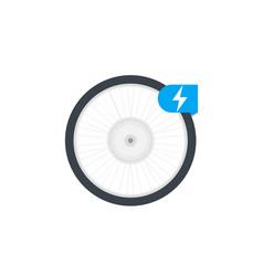 Electric bike wheel vector