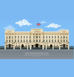 England buckingham palace vector
