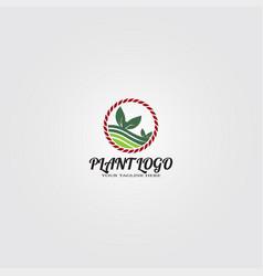 farming logo template logo for business corporate vector image
