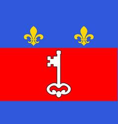 Flag of angers in maine-et-loire of pays de la vector