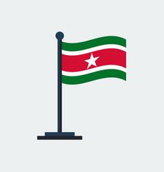 flag of surinameflag stand vector image