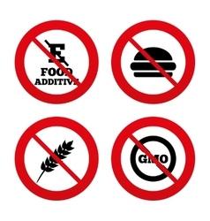 Food additive icon Hamburger fast food sign vector image
