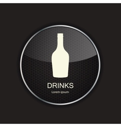 Food and drink metal application icons vector image