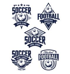 Football emblems vector