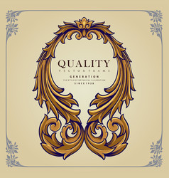frame quality ornaments elegant isolated vector image