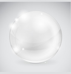 glass 3d sphere shiny transparent ball vector image