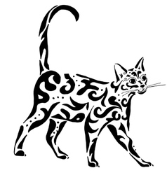 graceful Egyptian cat vector image