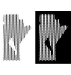 Halftone manitoba province map vector