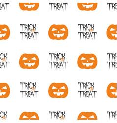 halloween tile pattern with orange pumpkin vector image