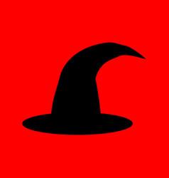 halloween witch hat vector image vector image