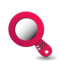 Hand mirror logo vector