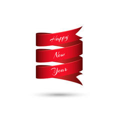happy new year text festive banner mockup 3d vector image