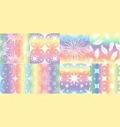 holographic metalized patterns vector image