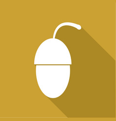 icon acorn with a long shadow vector image