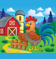 image with rooster theme 2 vector image
