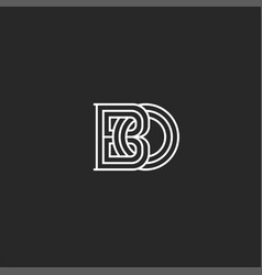 interweaving two letters b and o creative vector image