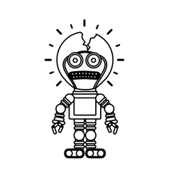 Isolated toy robot damaged design vector