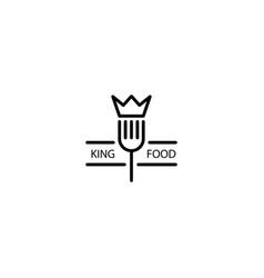 King food monoline logo template vector