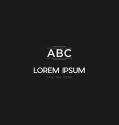 Letter abc gate brand text logo design vector