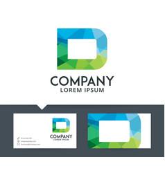 letter d - logo design vector image