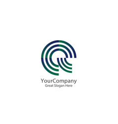 letter e and q logo icon circle line logo design vector image