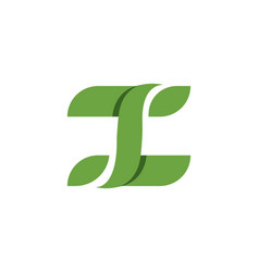 letter logos of green tree leaf vector image