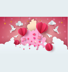 Love balloon valentine s day cloud vector
