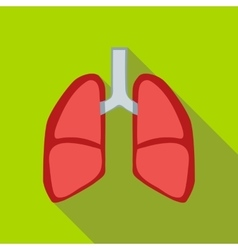 Lungs icon flat style vector image