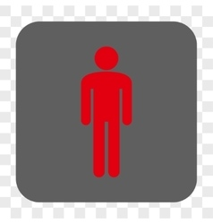 Man Rounded Square Button vector image