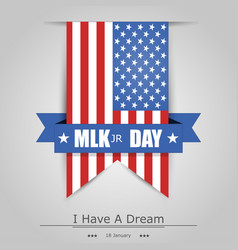 Martin luther king day banner with a grey vector