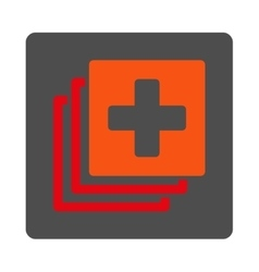 Medical Documents Flat Button vector image