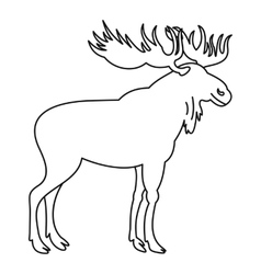 Moose icon outline style vector image