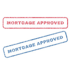 mortgage approved textile stamps vector image