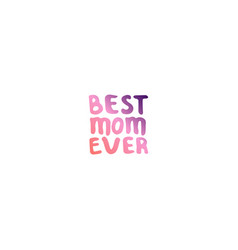 mothers day hand lettering phrase vector image