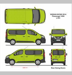 Nissan nv300 passenger van l1h1 2014 vector