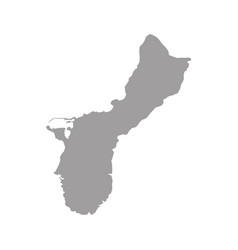 Outline map guam isolated vector