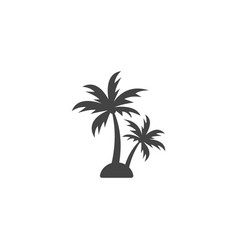 palm tree silhouette graphic design element vector image