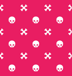 pattern with skull and bones seamless background vector image
