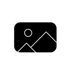 Placeholder black glyph icon vector