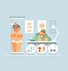 plastic surgeon room vector image