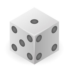 play dice icon isometric style vector image